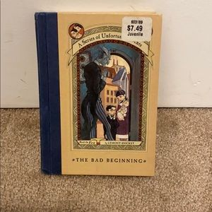 A series of unfortunate events hardcover book
